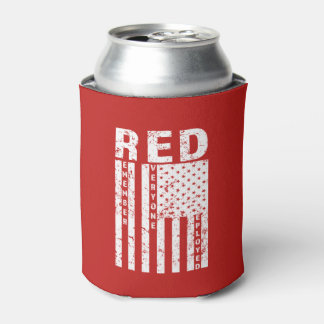 RED Remember Everyone Deployed Military can cooler