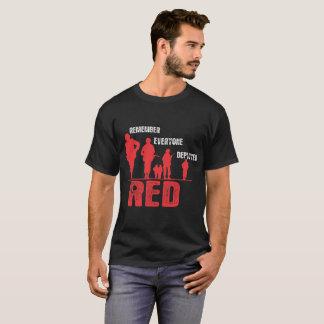 RED Remember Everyone Deployed Tshirt