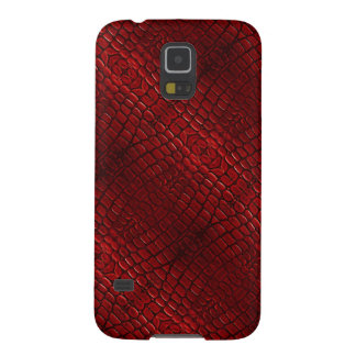 Red Reptile Skin Case