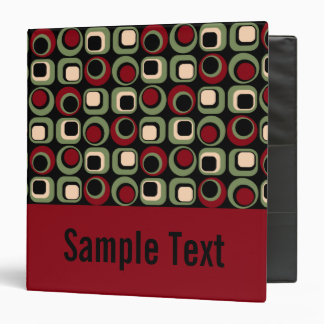 Red Retro Binder Notebook