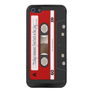 Red Retro Cassette Tape Personalized Case Cover For iPhone 5/5S