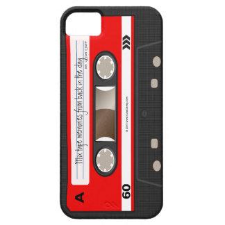 Red Retro Cassette Tape Personalized Case iPhone 5 Case