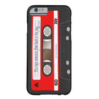 Red Retro Cassette Tape Personalized Cool Unique Barely There iPhone 6 Case