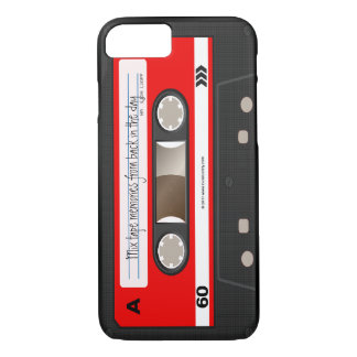 Red Retro Cassette Tape Personalized Cool Unique iPhone 7 Case