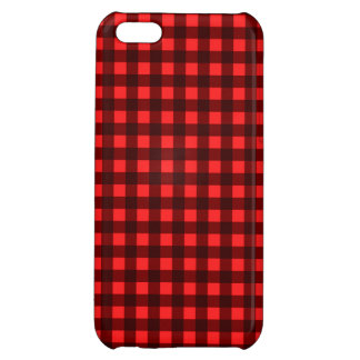 Red Retro Christmas Holiday Tartan Plaid Case For iPhone 5C