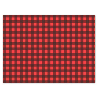 Red Retro Christmas Holiday Tartan Plaid Tissue Paper