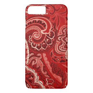 Red Retro Paisley Bandanna/Bandana iPhone 8 Plus/7 Plus Case