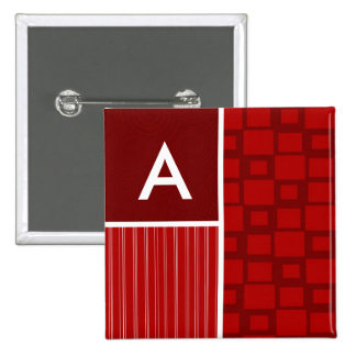 Red Retro Squares Pins