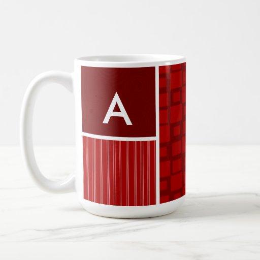 Red Retro Squares Coffee Mug