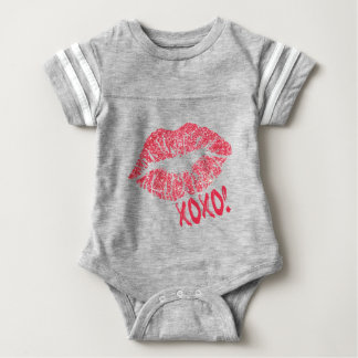 RED RETRO SUGAR LIPS XOXO BABY BODYSUIT