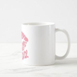RED RETRO SUGAR LIPS XOXO COFFEE MUG