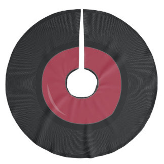 red Retro Vinyl Record Disk Tree skirt