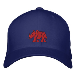 Red Rhino Embroidered Hat