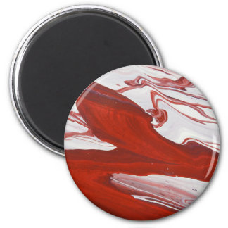 Red Ribbon 2 Inch Round Magnet