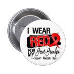 Red Ribbon Awareness - Great-Grandpa Pinback Button