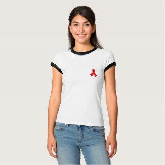 Red ribbon awareness shirt