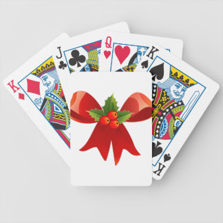Red Ribbon Bicycle Playing Cards