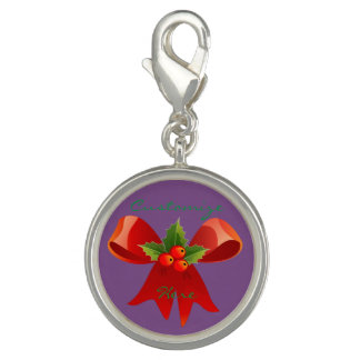 Red Ribbon Bow Holly Thunder_Cove Photo Charms