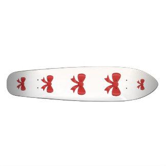 Red Ribbon Bow. On White. Skate Decks