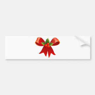 Red Ribbon Bumper Sticker