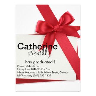 Red Ribbon - Customized Graduation invitation