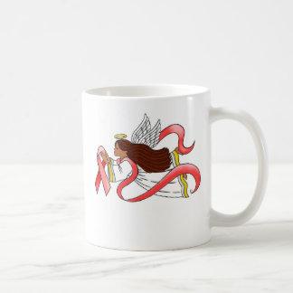 """Red Ribbon""  Ethnic Awareness Angel Coffee Mug"