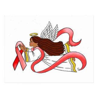 """Red Ribbon""  Ethnic Awareness Angel Postcard"