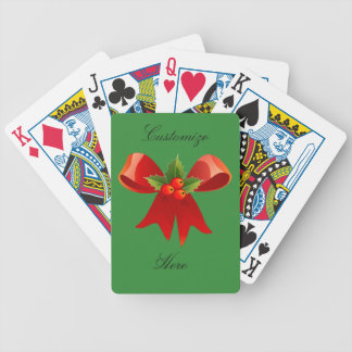 Red Ribbon Holly  Thunder_Cove Bicycle Playing Cards