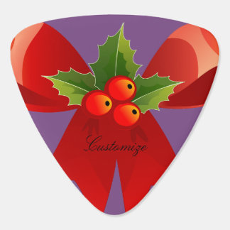Red Ribbon Holly  Thunder_Cove Guitar Pick