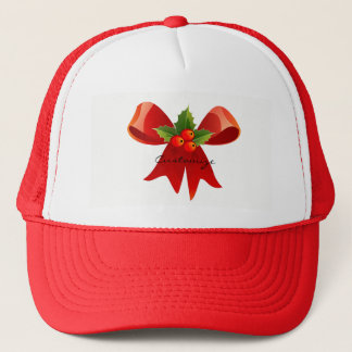 Red Ribbon Holly  Thunder_Cove Trucker Hat