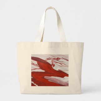 Red Ribbon Large Tote Bag
