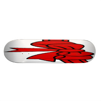 Red Ribbon of Love, Bow,White Back Skate Board Deck