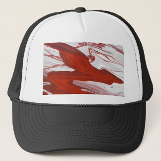 Red Ribbon Trucker Hat