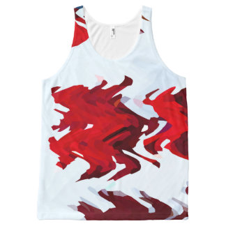 Red Ribbons All-Over-Print Tank Top