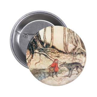 Red Riding Hood 2 Inch Round Button