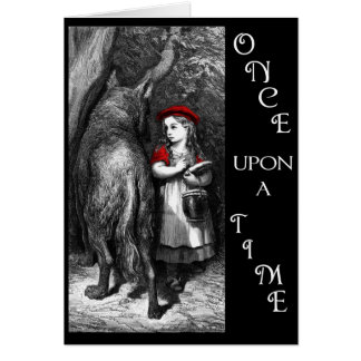 Red Riding Hood and Wolf Art Card