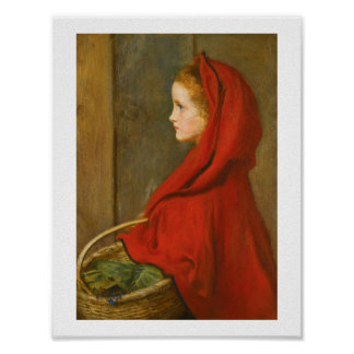 Red Riding Hood by Millais Poster