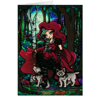 Red Riding Hood Fairytale Fantasy Art Card