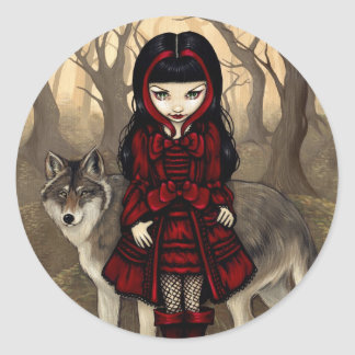 """Red Riding Hood in Autumn"" Sticker"