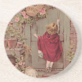 Red Riding Hood Knocks on the Door Coaster