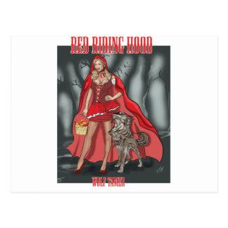 Red Riding Hood - Wolf Tamer Postcard