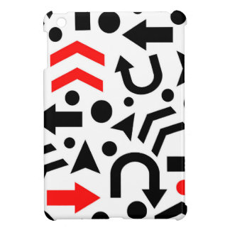Red right direction iPad mini cover