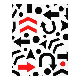 Red right direction letterhead design