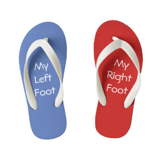 Red Right - Left Blue Kid's Flip Flops