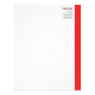 Red Right Sidebar Letterhead