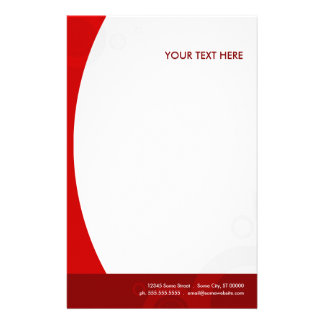 red rings customized stationery