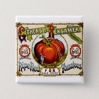 Red Ripe tomatoes For Sale - Vintage Ad 2 Inch Square Button