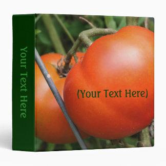 Red Ripe Tomatoes Nature Binder