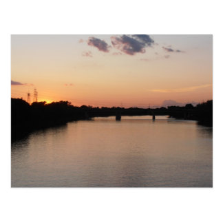 Red River at Sunset Postcard