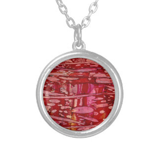 red river currents silver plated necklace